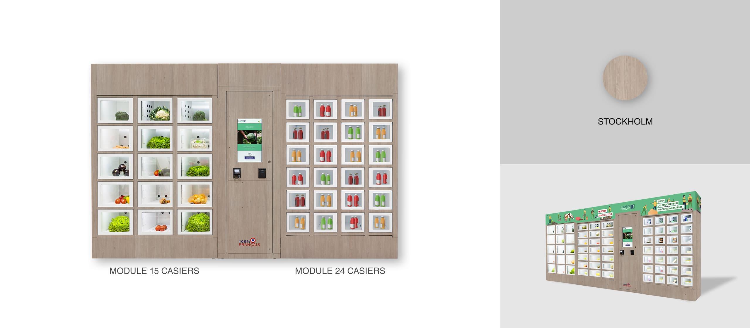 Carcasa de Stockholm de una máquina expendedora Le Casier Français