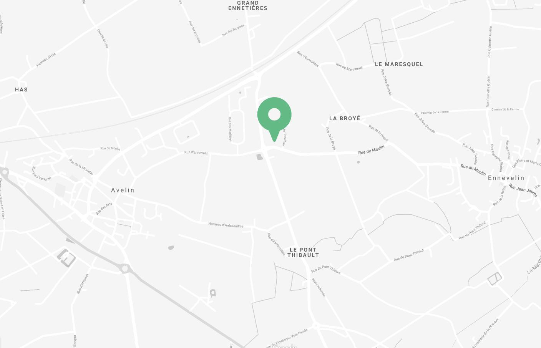 Mapa para la ubicación Le Casier Français